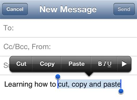 how to copy and paste on iphone how to copy cut and paste on iphone