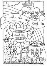 Scout Brownie Activities sketch template