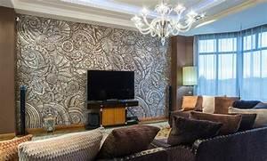 Wandgestaltung Mit Steinoptik : 30 wohnzimmerw nde ideen streichen und modern gestalten ~ Markanthonyermac.com Haus und Dekorationen
