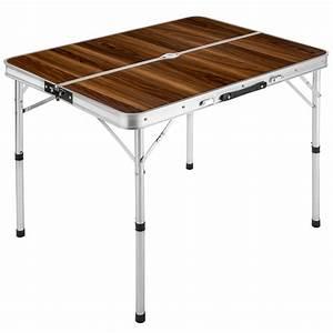 Table Pliante Valise : ensemble table pliante valise avec 2 bancs camping ~ Melissatoandfro.com Idées de Décoration