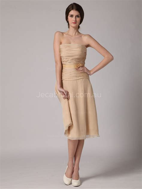 modern knee length beach casual bridesmaid dress