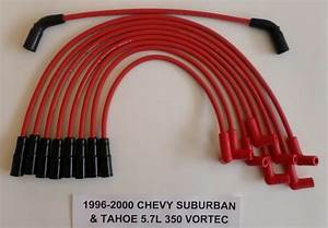 Red Spark Plug Wires Vortec 5 7l 350 1996 1997 1998 99