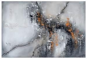 Douglasie öl Grau : acryl gem lde 39 abstrakt grau orange linien 39 handgemalt ~ Lizthompson.info Haus und Dekorationen