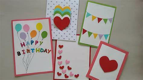 cute easy greeting cards srushti patil youtube