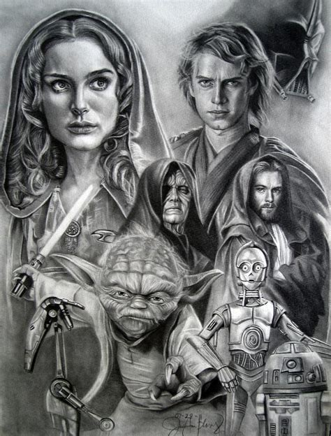 Star Wars Drawing by Unnamed Soul