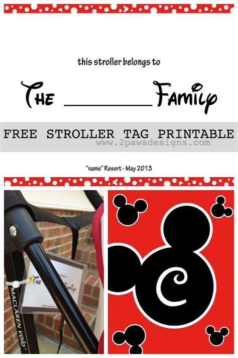 friday freebie diy disney stroller tag template disney