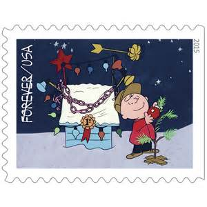 Charlie Brown Christmas Forever Stamps