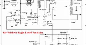 Wiring Schematic Diagram  Tube We437a   6l6gc   805 Single