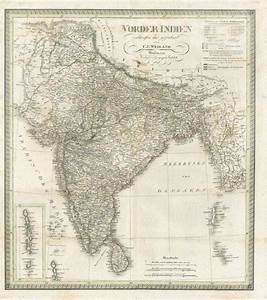 Antique Maps Of India And Sri Lanka