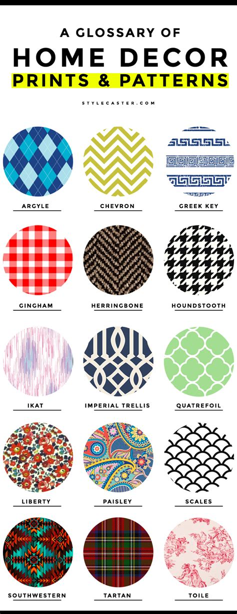 common home decor prints  patterns  complete glossary