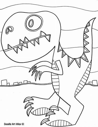 Doodle Coloring Alley Dinosaur Stegosaurus Animal Dinosaurs