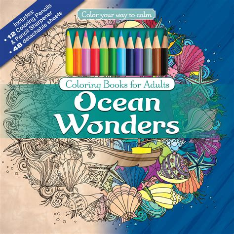 color your way to calm ocean wonders coloring book for