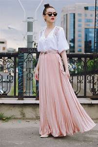 Pink maxi skirt crush u2022 Couturezilla