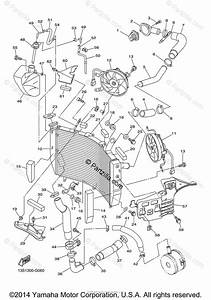 Yamaha Motorcycle 2012 Oem Parts Diagram For Radiator Hose