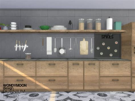 Sims 4 Home Decor :  Dubnium Kitchen Decorations By