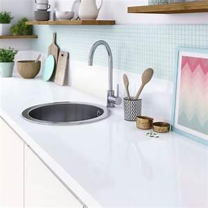 Recouvrir Plan De Travail Cuisine Adhesif : plan de travail stratifi blanc brillant x cm ~ Dailycaller-alerts.com Idées de Décoration