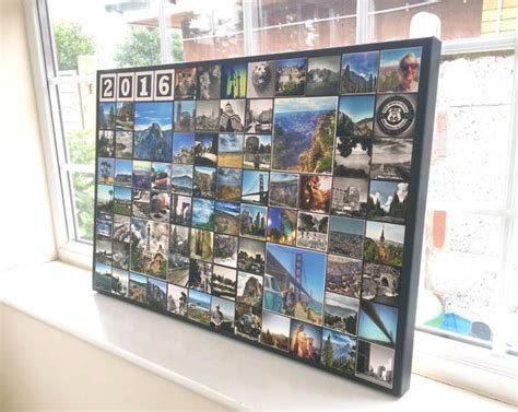 Items Similar To Instagram Collage Canvas Print-up To