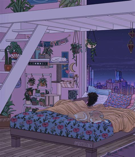 environments amidstsilence bedroom drawing aesthetic