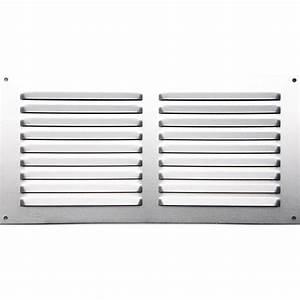 grille d39aeration aluminium anodise l15 x l30 cm With grille aeration porte garage
