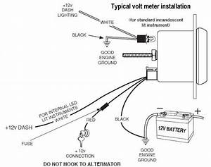 Alternator To Voltmeter Wiring Diagram