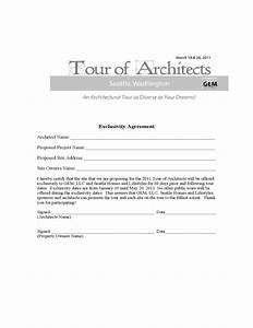 exclusivity agreement tour of architects free download With exclusivity contract template