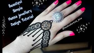 How to apply easy simple henna mehndi designs for hands ...