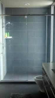 glass subway tile bathroom ideas glass 4 quot x 12 quot subway tile shower tiles grey and glasses