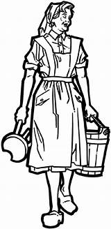 Milking Maid Maids Decals Vinyl Coloring Line Farming Stool Crops Agriculture Farmer Sticker Carrying Bucket Eight Pages Signspecialist Beevault Customize sketch template
