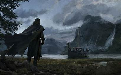 Viking Boat Fantasy Warrior Drakkar Wallpapers Cape