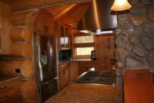 log kitchen cabin