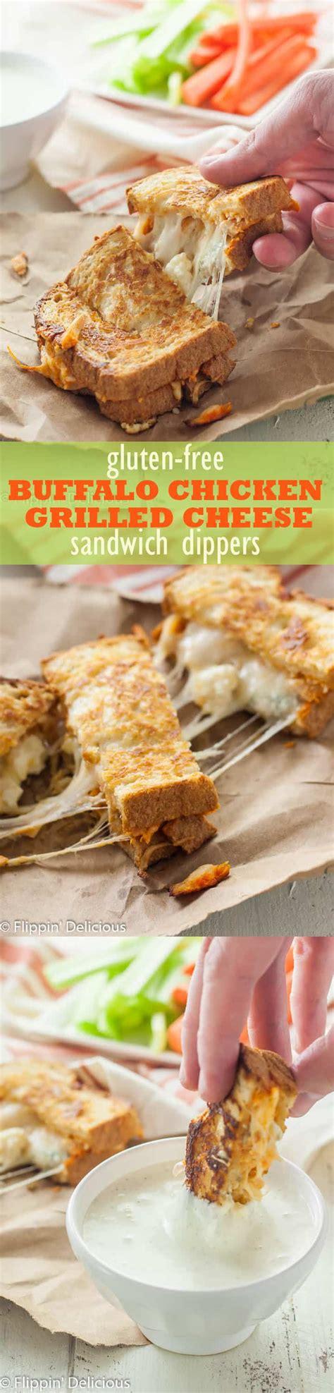 Gluten Free Buffalo Chicken Grilled Cheese Sandwich Dippers