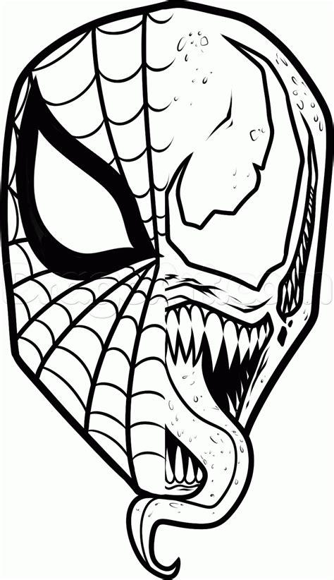 draw spiderman  venom step  drawing