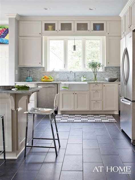 white cabinets tile floor 25 best ideas about slate floor kitchen on pinterest 349 | ed2060419bcb349df3d9ab1018429512