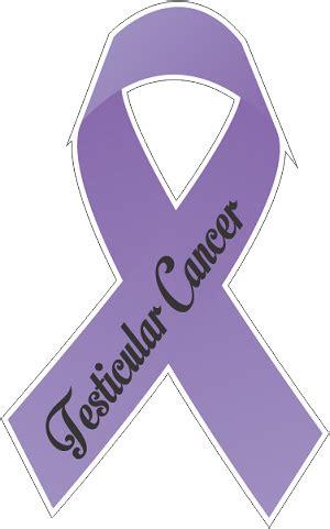 testicular cancer color testicular cancer ribbon decal 1
