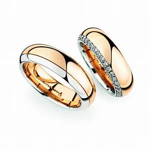 Rose gold platinum wedding ring pair christian bauer for Wedding ring christian