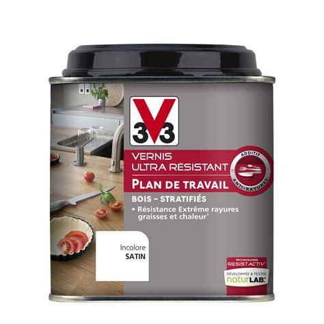 peinture lavable cuisine vernis plan de travail resist activ v33 0 5 l incolore