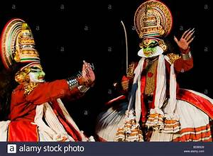 Theatre stage acting - traditional Indian dance Kathakali ...