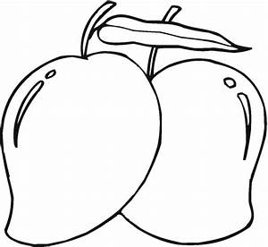 Mango Black White Clipart - Clipart Suggest