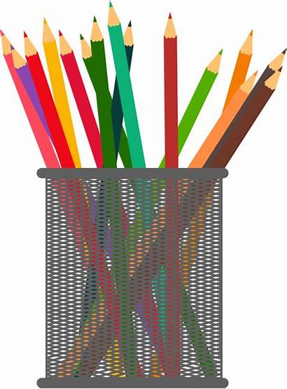 Clipart Stand Pencils Jar Holder Pen Pencil