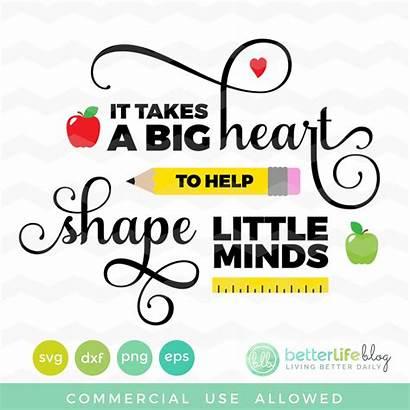 Heart Svg Minds Teachers Help Takes Teacher