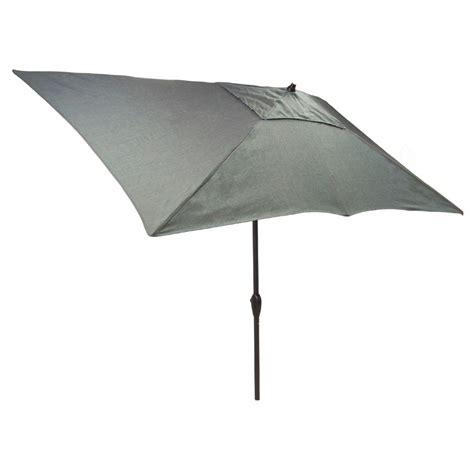 Hton Bay Patio Umbrella With Solar Lights by Hton Bay 10 Ft X 6 Ft Aluminum Solar Patio Umbrella