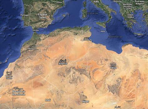 Carte Sat Algerie carte alg 233 rie satellite carte alg 233 rie