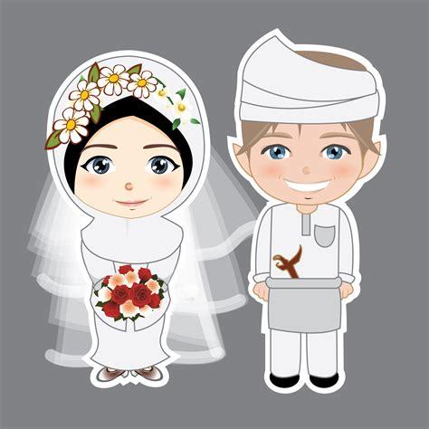 gambar kartun pengantin muslimah rtoon alin ca gambar