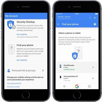 Google Iphone Account Webpage Phone Rolls Features