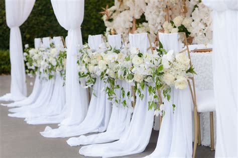 wedding chairs for and groom 12 beautifully draped fabric wedding chair ideas mon cheri bridals