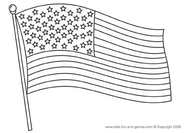4th of July Coloring Pages   American flag coloring page ...