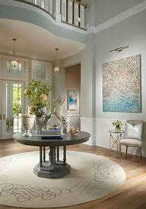 remodelaholic favorite entryway and foyer paint colors With light blue paint for tropical home design