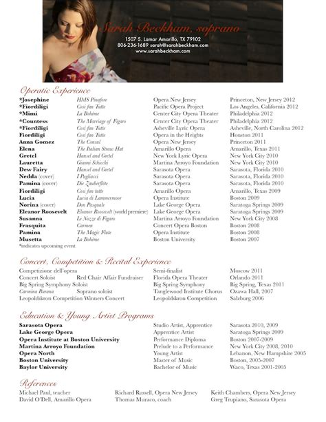 resume beckham opera singer opera