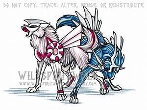 Palkia Dialga Pokemon Wolves by WildSpiritWolf on DeviantArt