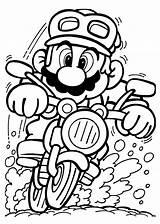Mario Coloring Driving Play Cartoon sketch template